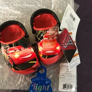 NWT Discontinued Light Up Cars Movie CROCS